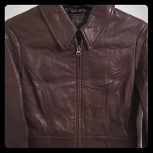 ✨NEW! Banana Republic chocolate leather jacket
